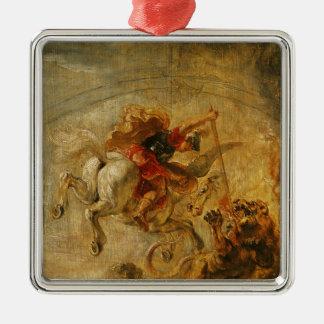 Bellerophon Riding Pegasus Fighting the Chimaera Christmas Ornament