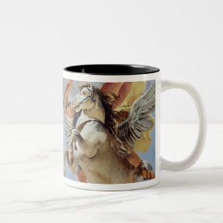 Bellerophon, riding Pegasus, slaying the Chimaera, Two-Tone Coffee Mug