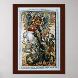 Bellerophon slays the Chimaera Poster