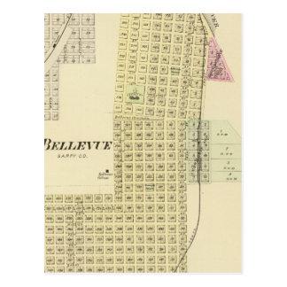 Bellevue and La Platte, Nebraska Postcard
