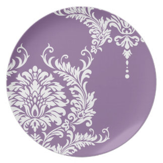 Bellflower Purple Damask 2012  Color Party Plate