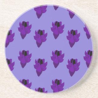 Bellflower purple drink coasters