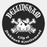 Bellingham Pirate Round Sticker