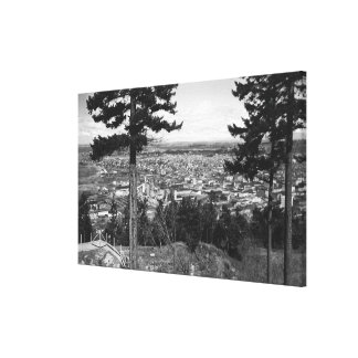 Bellingham, WA Town View from Sehome Hill Canvas Print