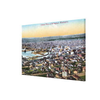 Bellingham, Washington - Aerial of City Canvas Print