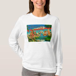 Bellingham, Washington - Large Letter Scenes T-Shirt