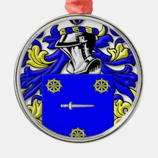 Bellis Coat of Arms Silver-Colored Round Decoration