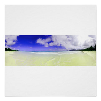 Bellows Beach panoramic premium poster