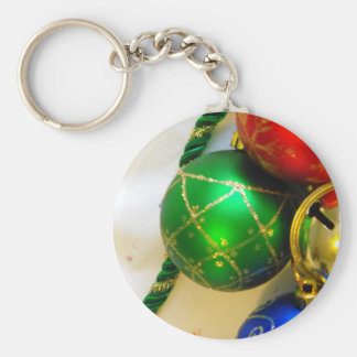 Bells and Balls Basic Round Button Key Ring
