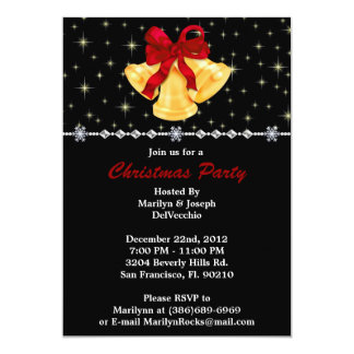 Bells and Bow CUTE Christmas Holiday Party Card