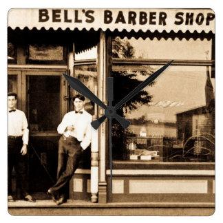 Bell's Barber Shop Vintage Americana Wallclock