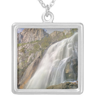 Bells Canyon Waterfall, Lone Peak Wilderness, Silver Plated Necklace