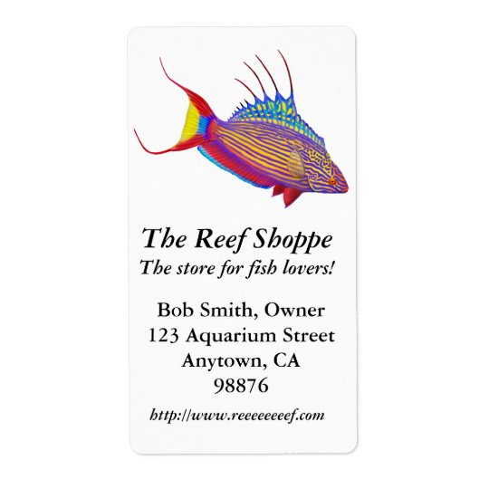 Bells Flasher Wrasse Customisable Label Shipping Label