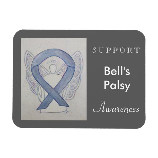 Bell's Palsy Awareness Ribbon Angel Custom Magnet