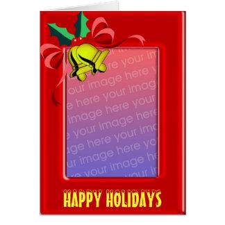 Bells Photo Frame Christmas Card