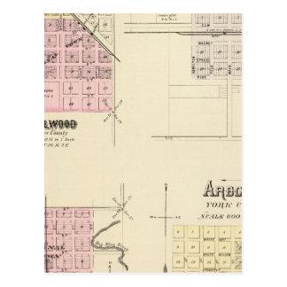 Bellwood, Risings, Ulysses, Arborville, Nebraska Postcard