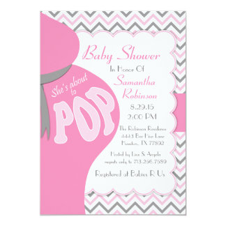 Belly Bump She's About to POP Shower Invitation