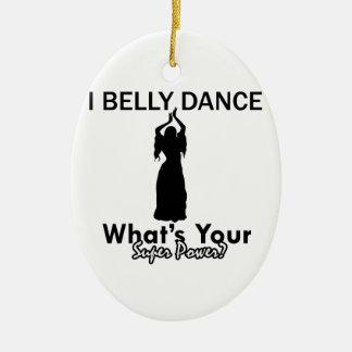Belly Dance designs Ceramic Oval Decoration