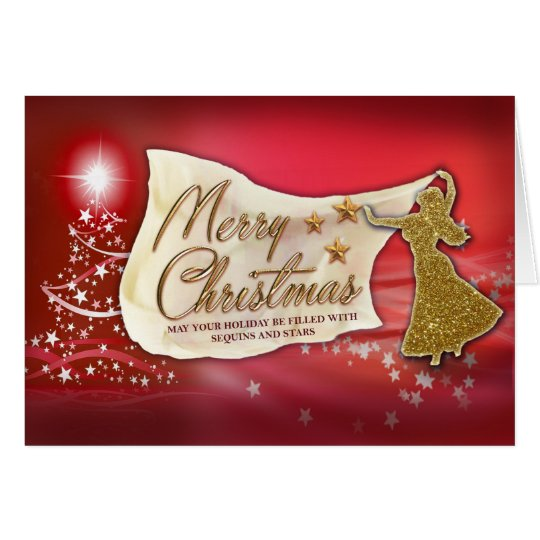 Belly Dance Merry Christmas Card