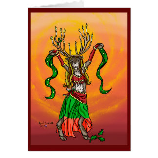 Belly Dance Raindeer Chrismas Card