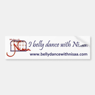 Belly Dance with Nisaa Bumper Sticker