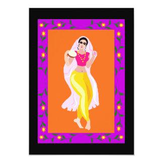 Belly Dancer 13 Cm X 18 Cm Invitation Card