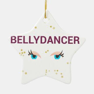 Belly dancer eyes ceramic star decoration