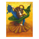 Belly Dancer Gypsy Cat postcard