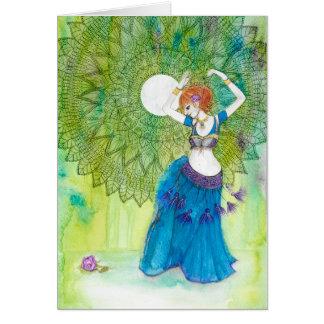Belly Dancer in Blue Card