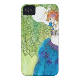 Belly Dancer in Blue iPhone 4 Case-Mate Case