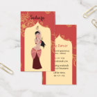 Belly Dancer Moroccan Arch Business Card