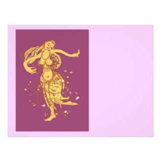 Belly dancers 21.5 cm x 28 cm flyer