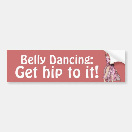 Belly Dancing Bumper Sticker