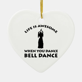 belly dancing design christmas tree ornament