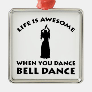 belly dancing design Silver-Colored square decoration