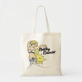 Belly dancing mermaid budget tote bag