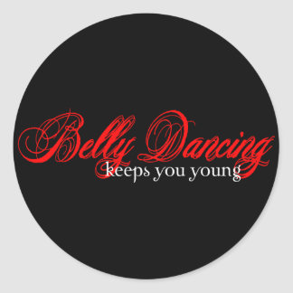 Belly Dancing Rocks Round Sticker