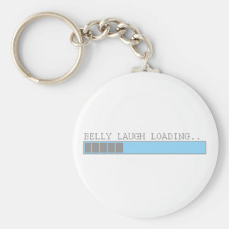 Belly laugh loading funny mens and girls humor basic round button key ring