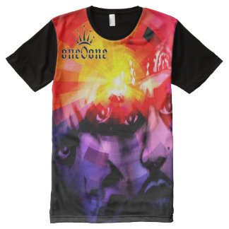 Belly of the Beast Abstract All-Over Print T-Shirt