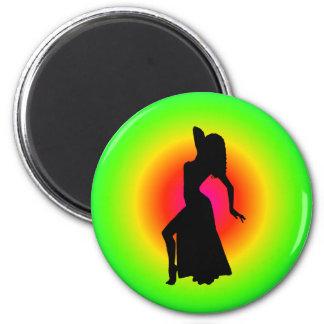 Bellydance Diva Pose Starburst Bagnet 6 Cm Round Magnet