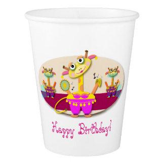 Bellydancer Giraffes Happy Birthday