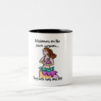 Bellydancers and Plastic Surgeons... Two-Tone Coffee Mug