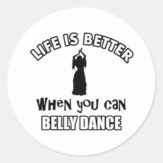 Bellydancing designs round sticker
