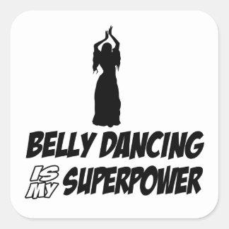 Bellydancing designs square sticker