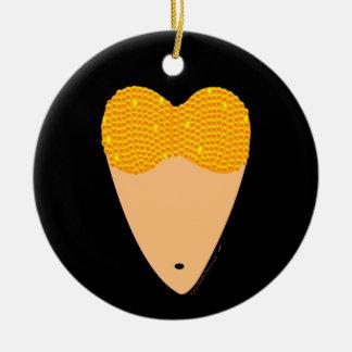 Bellydancing Torso Belly Dance Heart Christmas Tree Ornament