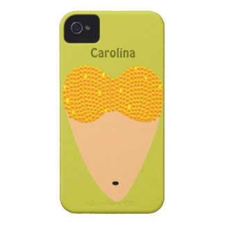 Bellydancing Torso Belly Dancer Heart Custom Name iPhone 4 Case-Mate Cases
