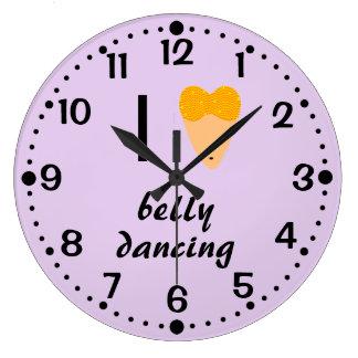 Bellydancing Wall Clock I Love Belly Dancing Torso