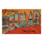 Belmar, New Jersey - Large Letter Scenes Poster