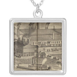Belmont Nail Works, Wheeling Silver Plated Necklace