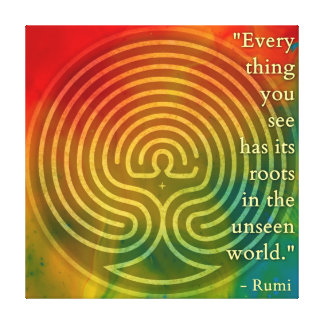 Belonging Rumi and Poetic Art Canvas Print